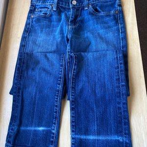 7FAM Medium Wash Jeans Straight Leg 25